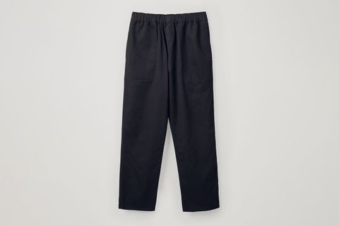 Cotton-Linen Elasticated Trousers