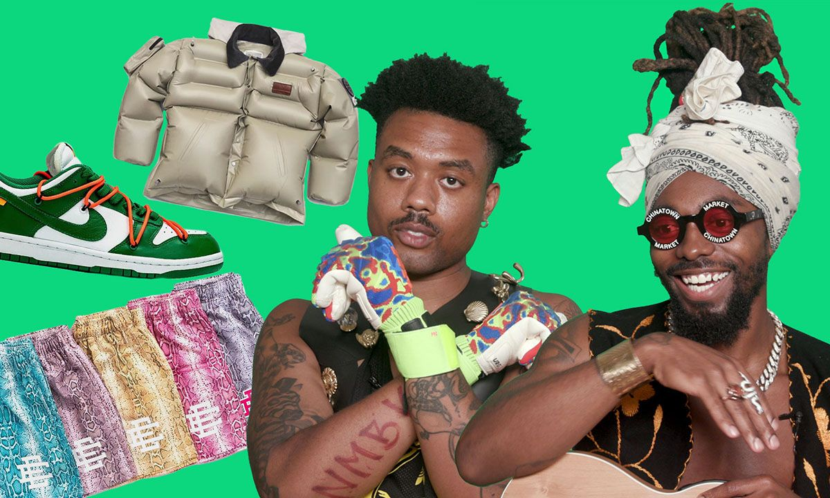 EarthGang Plays 'Cop or Drop' With Off-White™ x Nike Dunks, a Supreme Dirt Bike, $18 Million McLaren & More