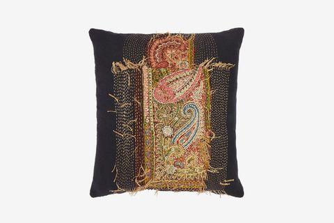 19th-Century Paisley Tapestry Cushion