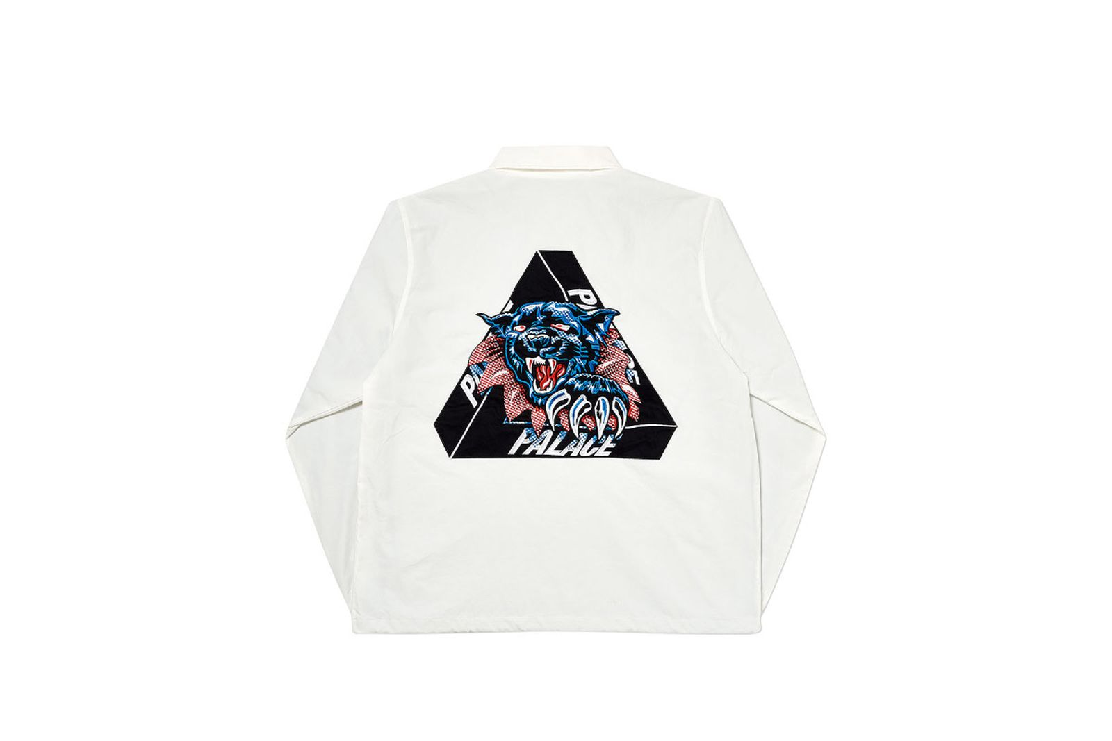 Palace 2019 Autumn Jacket Ripped Coach white back fw19