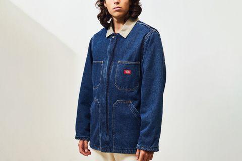 Denim Zip-Up Coat