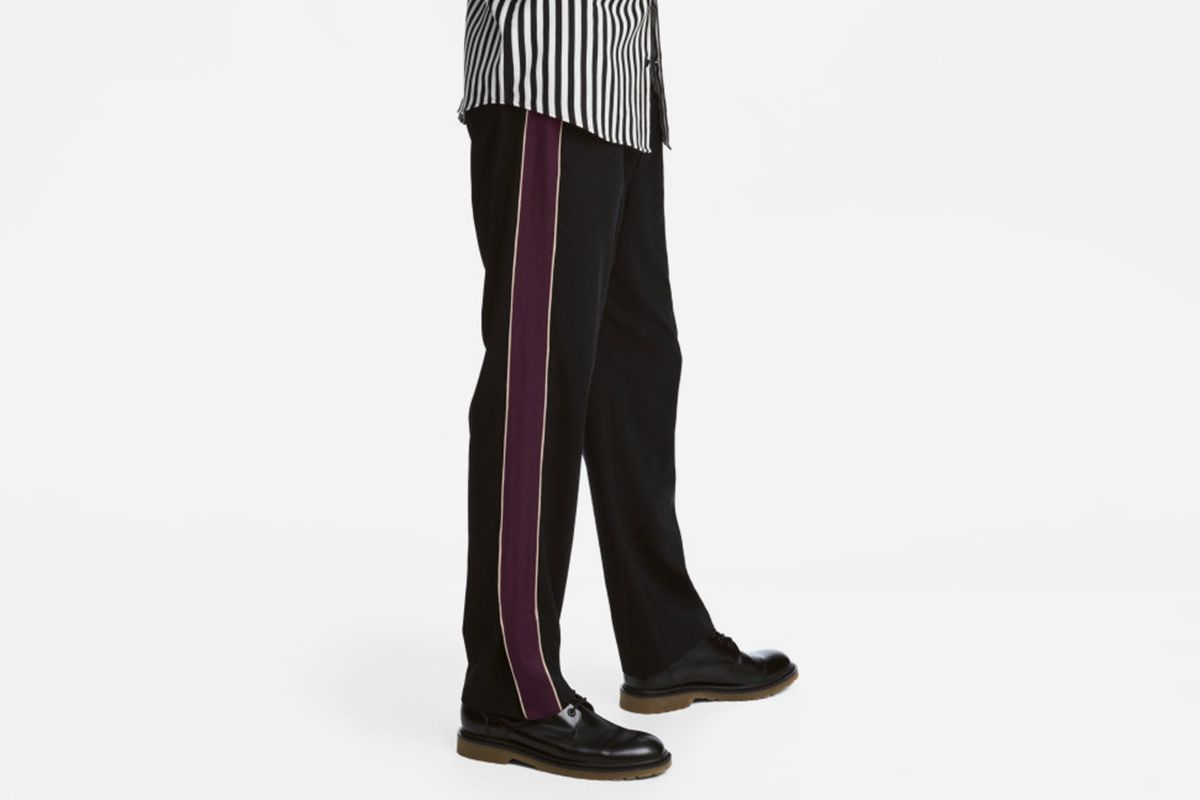 Wide-cut Side Stripe Pants