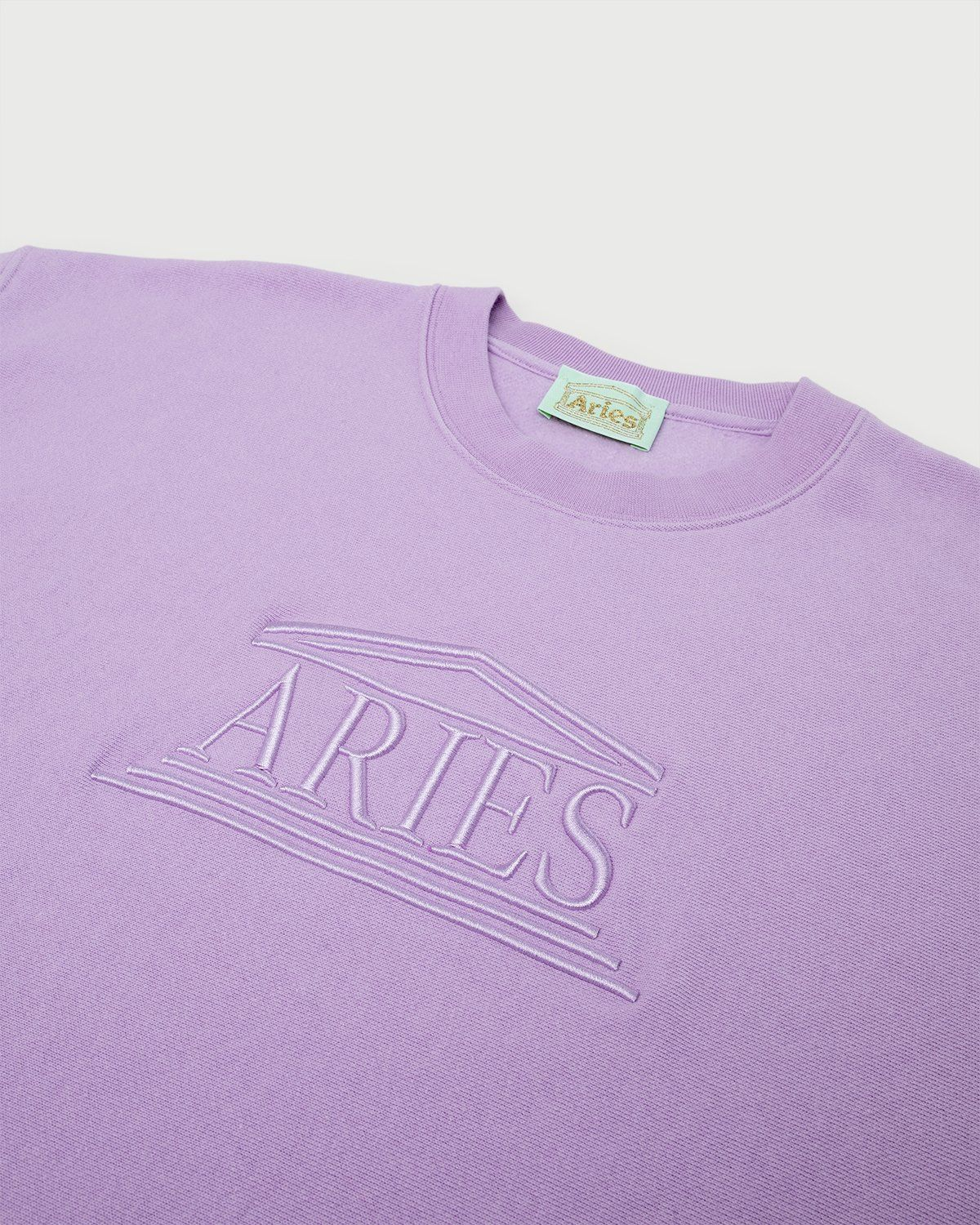 Aries - Embroidered Temple Sweatshirt Unisex Orchid - Image 2