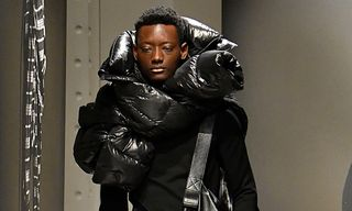 Juun.J Turns the Puffer Jacket Into an Unorthodox Scarf for FW18