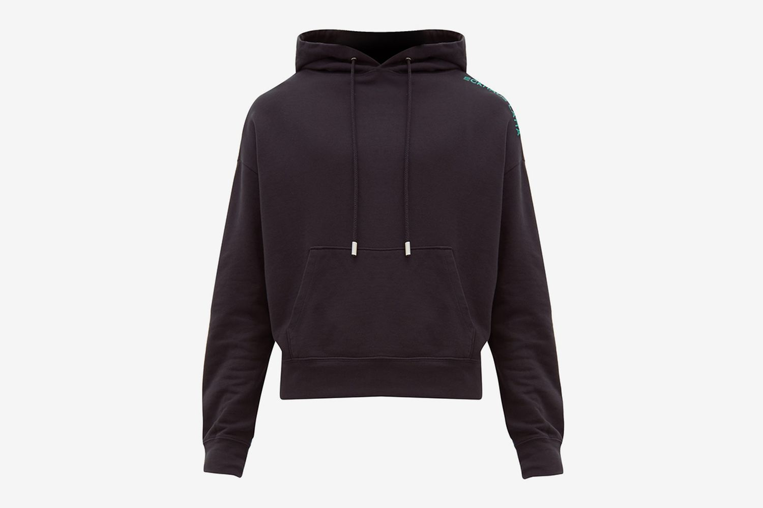 Cropped Cotton-jersey Hooded Sweatshirt