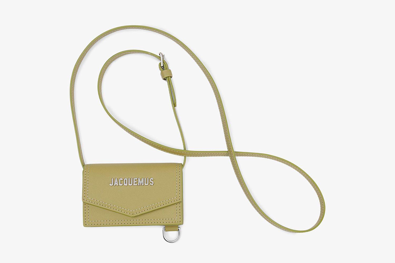 Green Le Porte Azur Leather Wallet