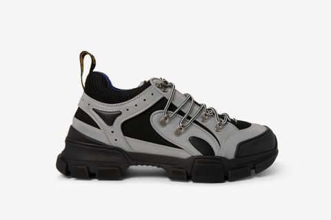 Flashtrek Reflective Rubber, Leather And Mesh Sneakers