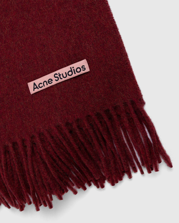Acne Studios – Canada Narrow Scarf Red Melange - Image 3