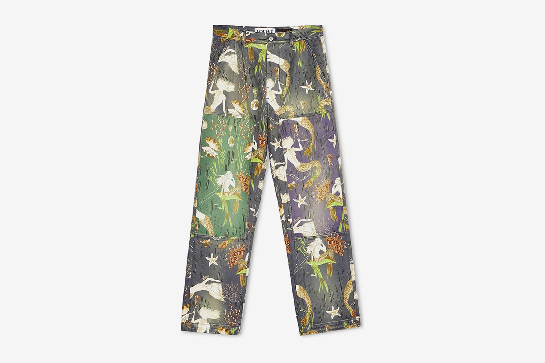 Patchwork Denim Trousers