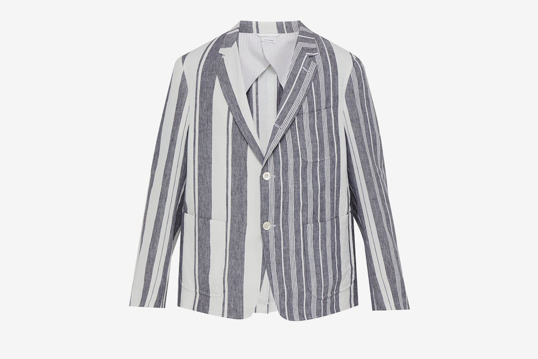 Striped Linen Blazer