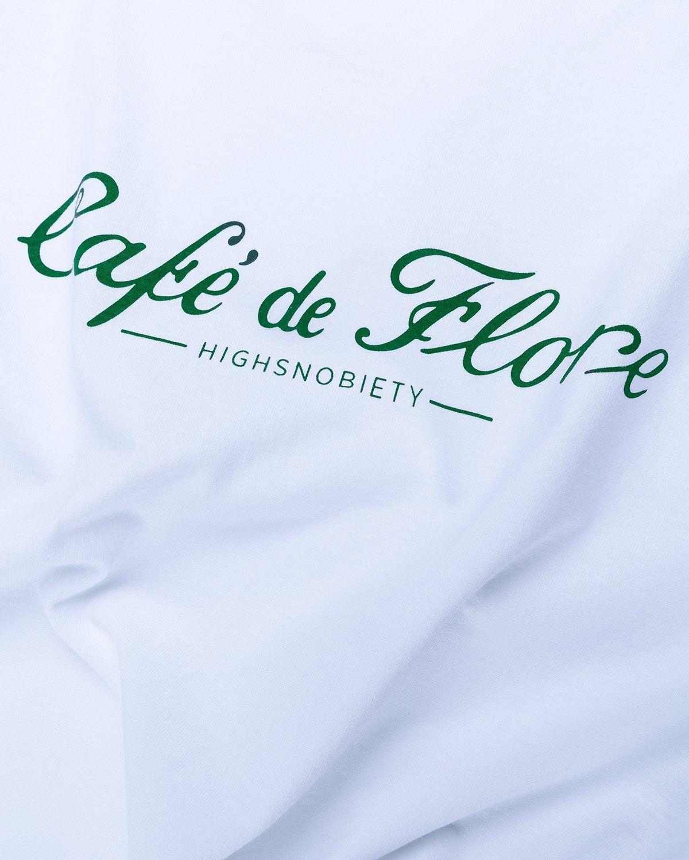 Highsnobiety — Not In Paris 3 x Café De Flore T-Shirt White - Image 4