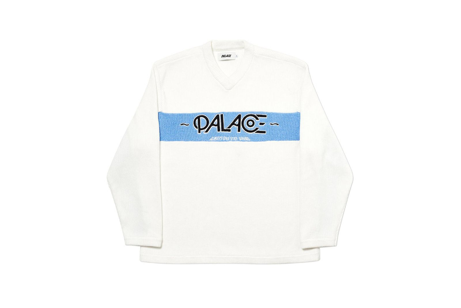 Palace 2019 Autumn knit obsission white front fw19