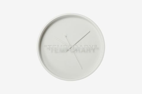 "MARKERAD ""TEMPORARY"" Wall Clock"