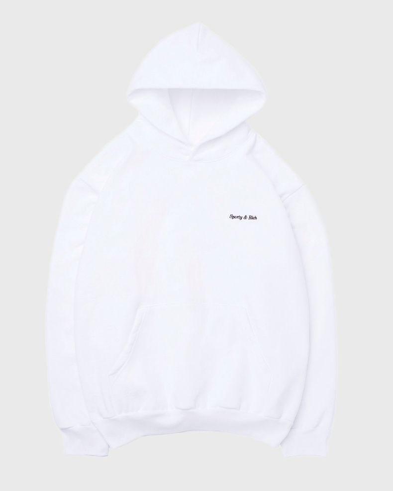 Sporty & Rich — Classic Logo Hoodie White