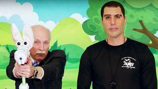 Sacha Baron Cohen who is america gun control