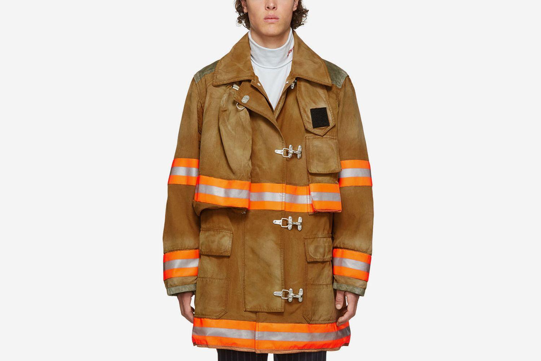 Aged Fireman Coat