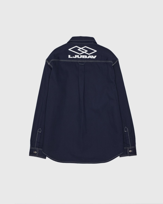 Carhartt WIP x Ljubav —  Chalk Shirt Jac Navy - Image 1