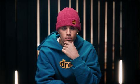 Justin Bieber pink beanie