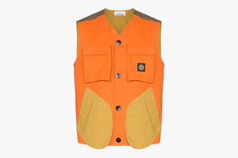 Colour Block Pocket Gilet