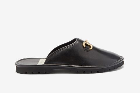Elea Horsebit Backless Loafers