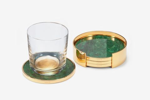Lucas Set of 4 Stone Coasters with Holder
