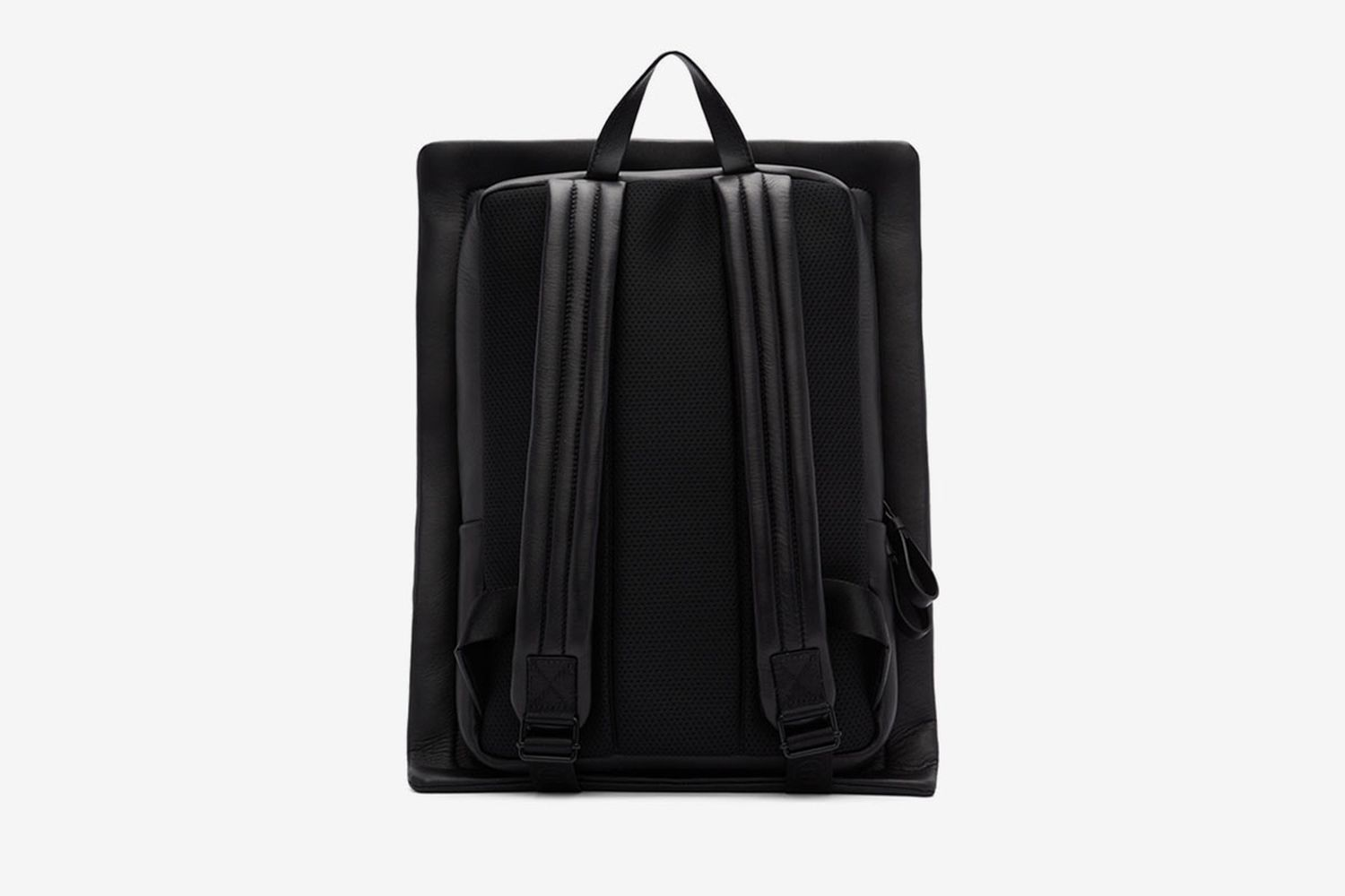 Leather Square Backpack
