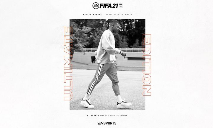 Kylian Mbappe on the cover of EA Sports FIFA 21