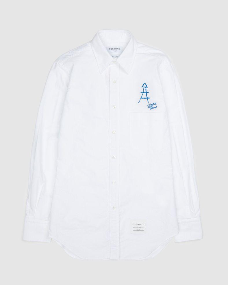 Colette Mon Amour x Thom Browne — White Eiffel Classic Shirt