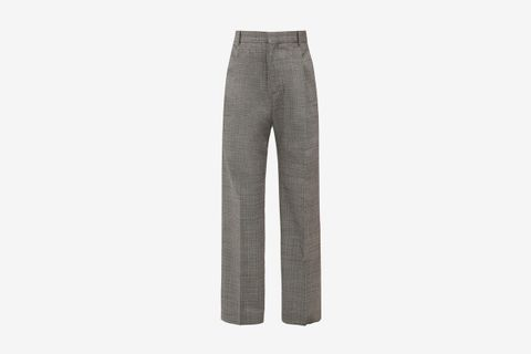 Well Checked Wide Leg Trousers