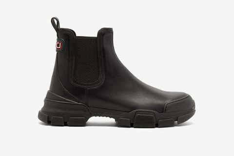 Leon Exaggerated-Sole Leather Chelsea Boots