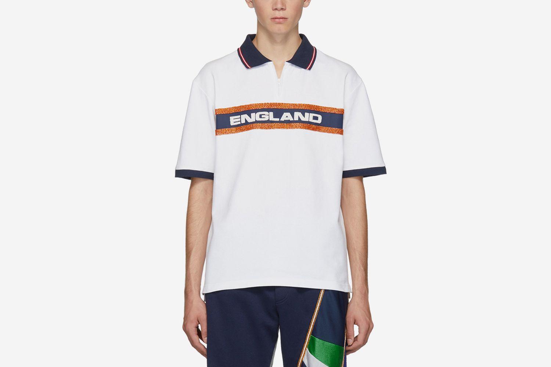 Beaded 'England' Polo