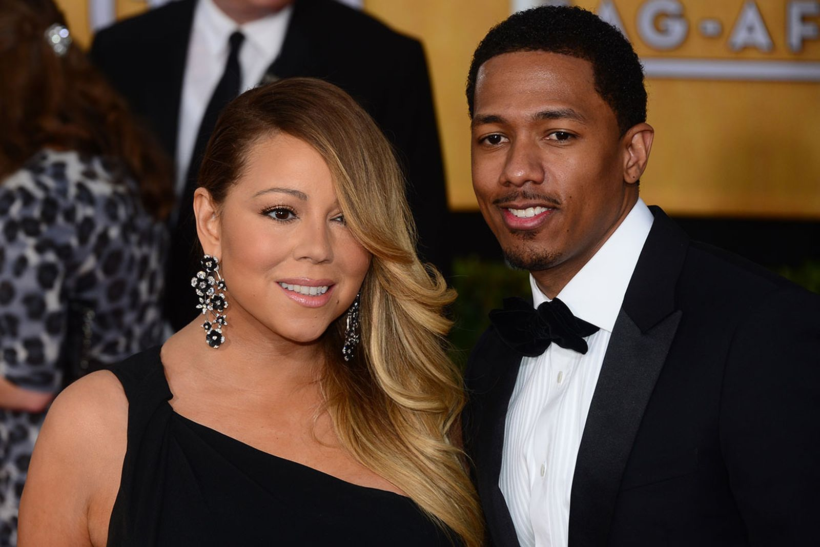Nick Cannon and Mariah Carey on the red carpet