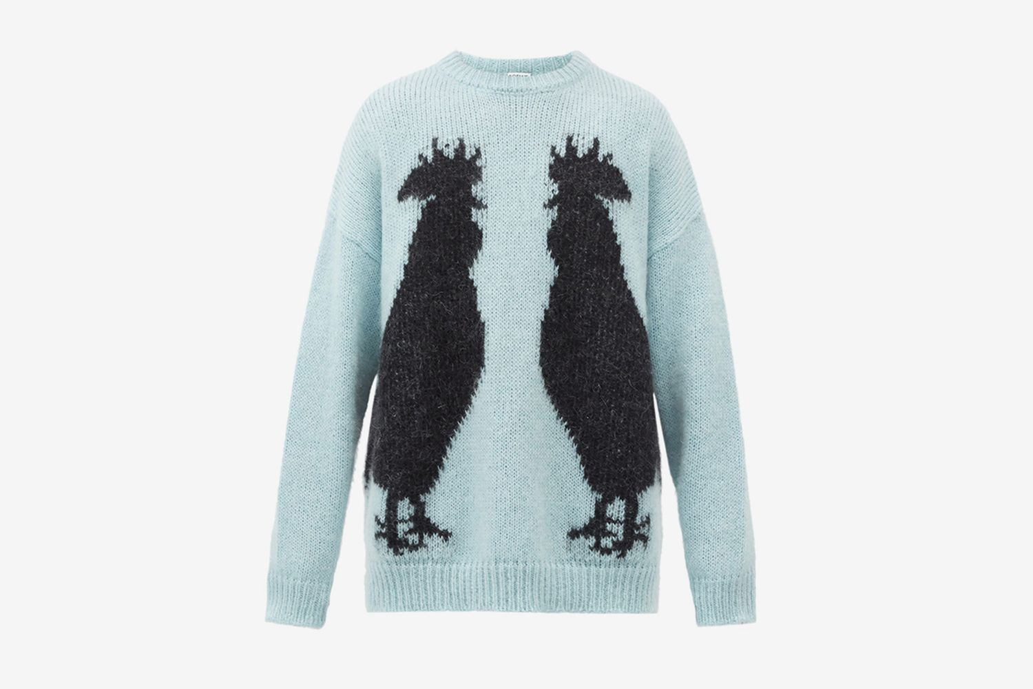 Rooster-Jacquard Mohair-Blend Sweater