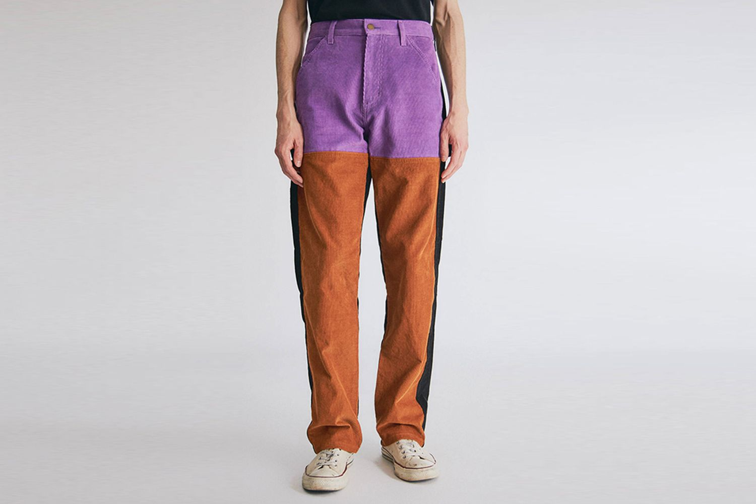 Colorblock Cord Pants