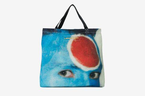 Large Face Print Tote Bag