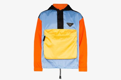 Hooded Color Block Jacket