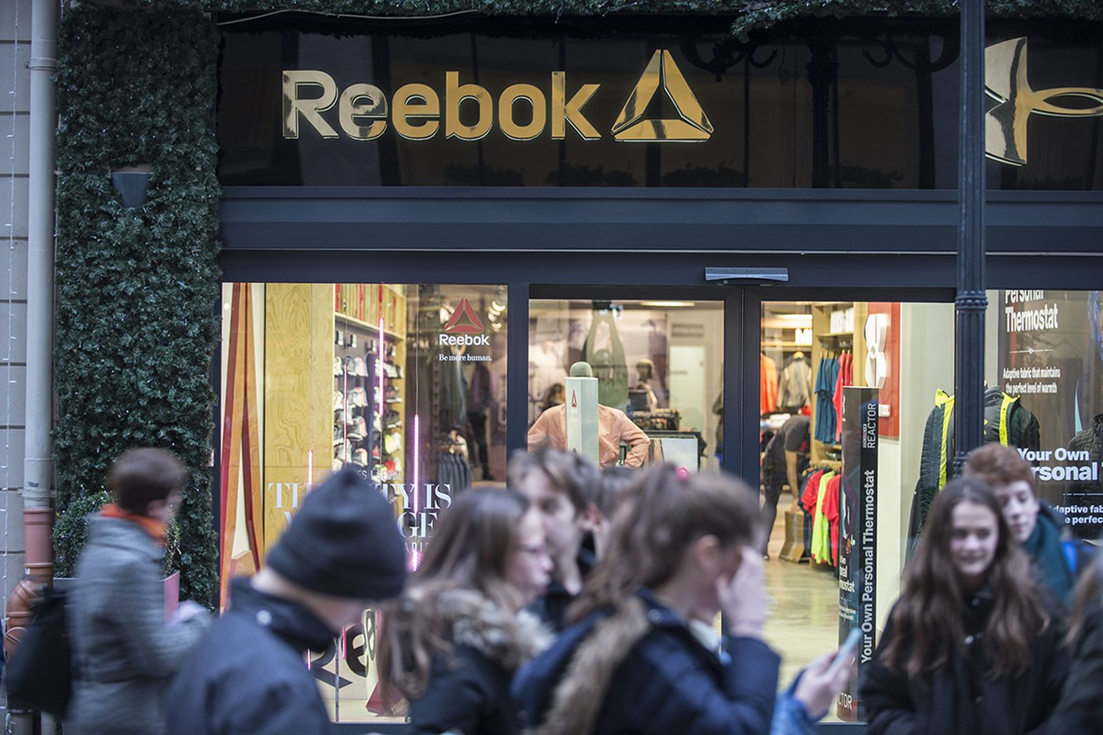 Reebok store sign