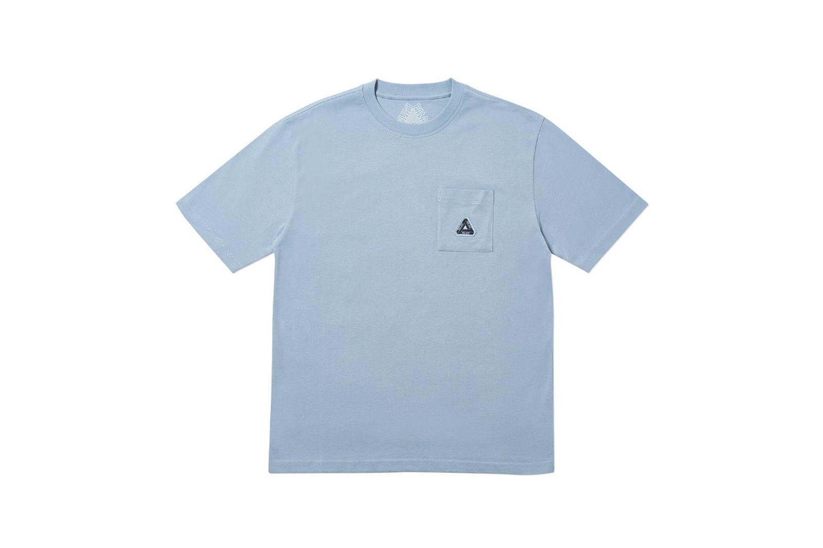 Palace 2019 Autumn T Shirt Pocket T mid blue