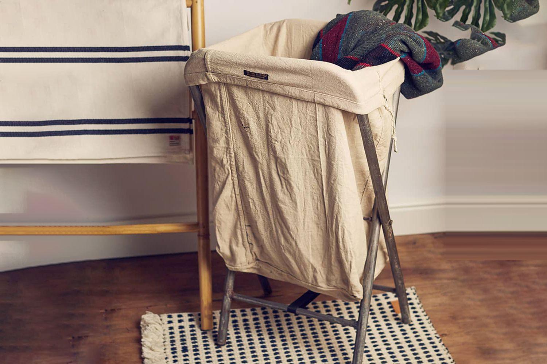 Vintage Folding Laundry Basket