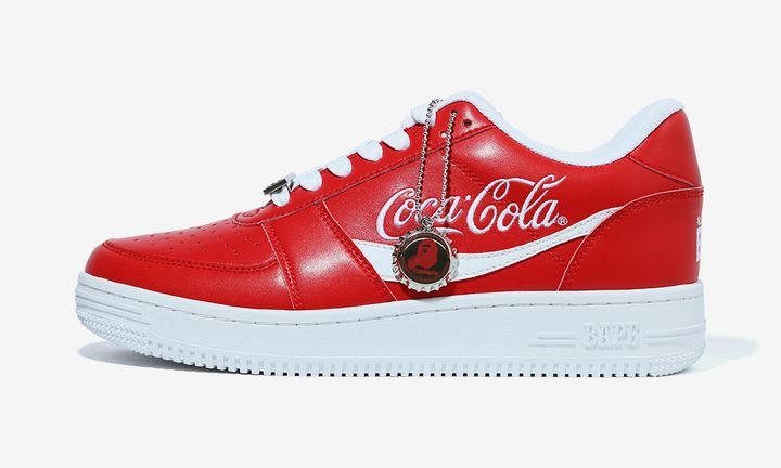 bapesta coca-cola red product shot