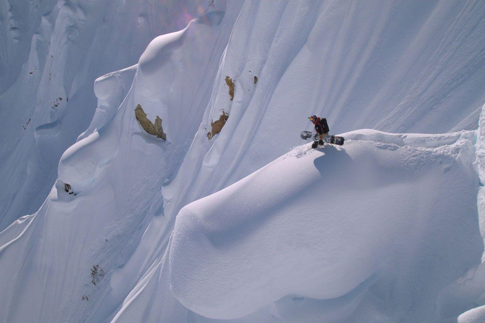Travis Rice in snowboarding film 'Dark Matter'