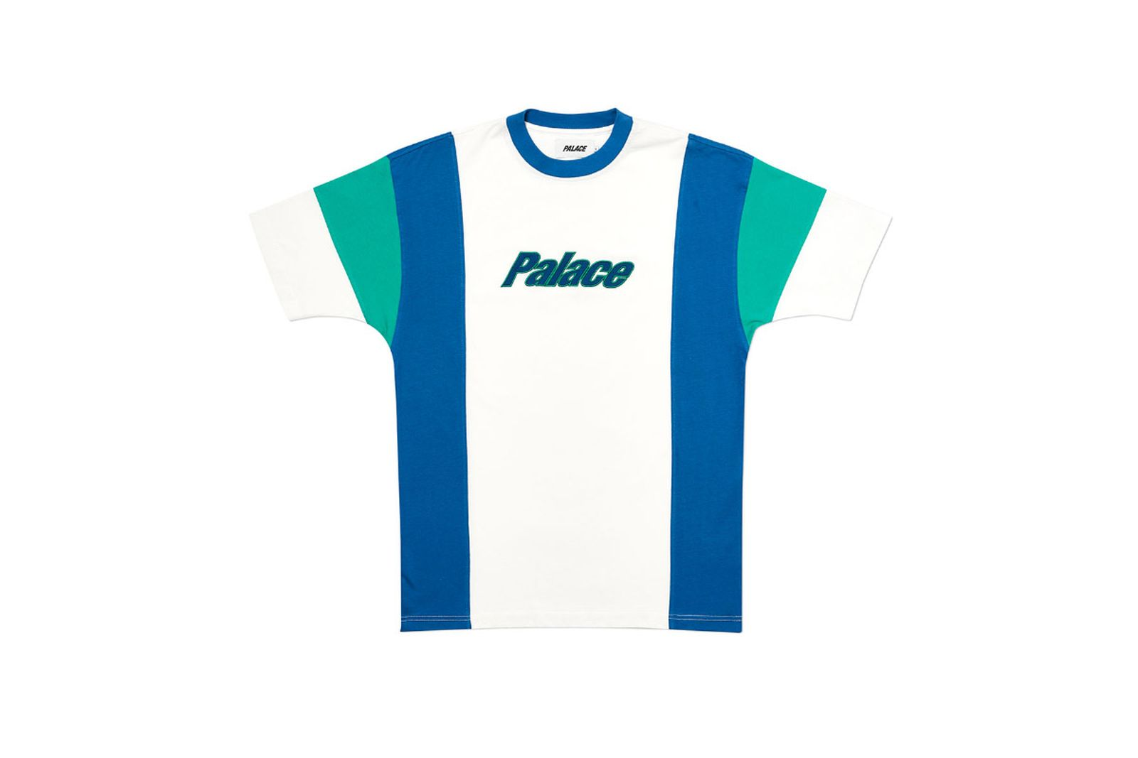 Palace 2019 Autumn T Shirt Duo Panel white front