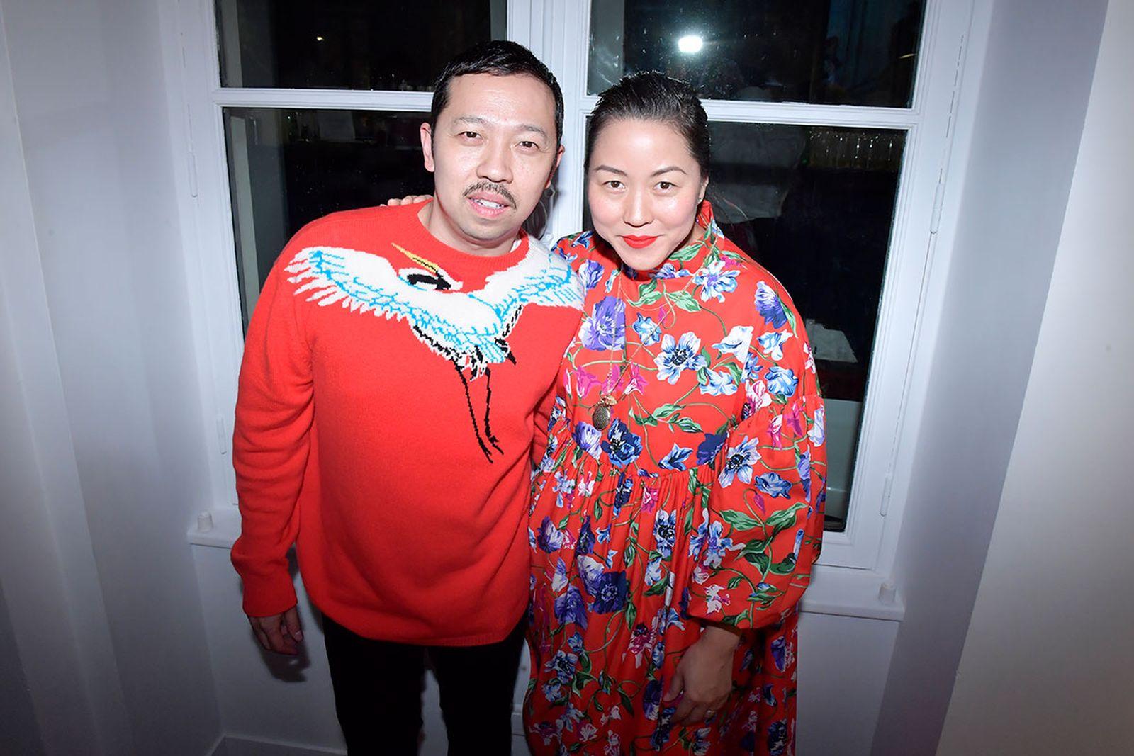 Humberto Leon Carol Lim leaving kenzo opening ceremony