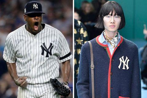 65daeb25acf18 Here s How the New York Yankees Logo Became a Bona Fide Fashion Statement