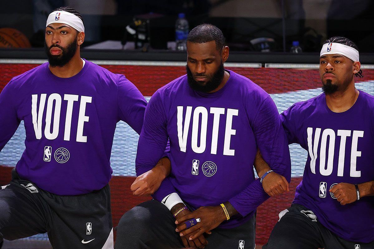 LeBron James Anthony Davis vote