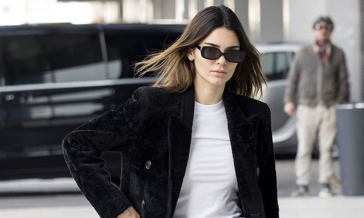 Kendall Jenner is seen during Milan Fashion Week