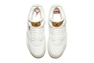 online store 96f62 32e74 Here s How   Where to Buy the White Levi s x Air Jordan 4 on June 30