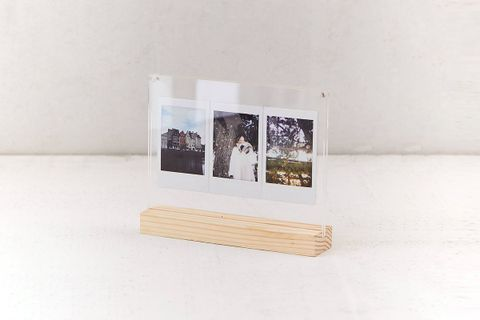 Wood + Acrylic Block Picture Frame