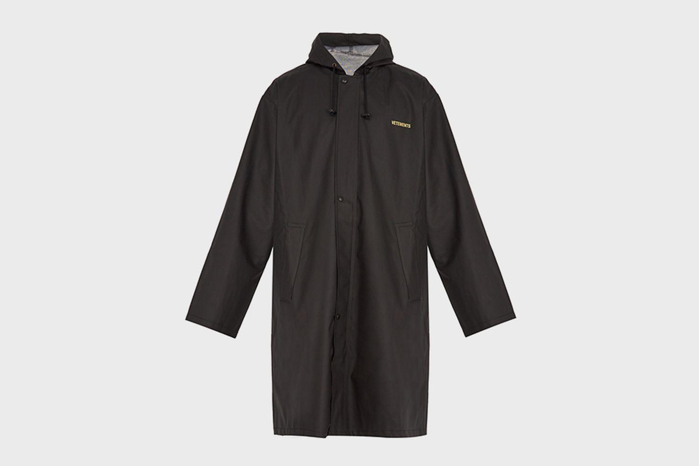 Oversized hooded rain coat