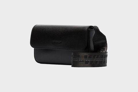 Logo Strap Leather Cross Body Bag
